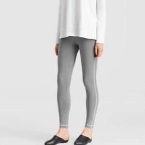 Eileen Fisher Moon Heather Grey Leggings Size PP